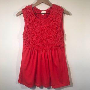 Anthropologie Deletta Cadence Red/Orange Top